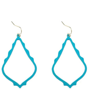 Casey Cutout Earring Teal
