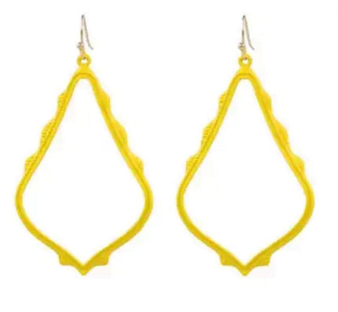 Casey Cutout Earring Yellow