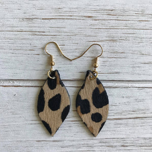 Leopard Small Leather Earrings