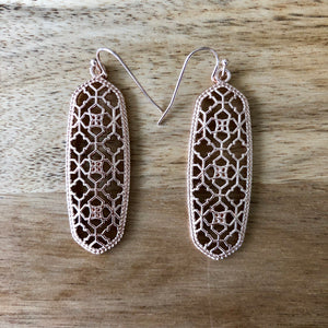 Rose Gold Cutout Earrings