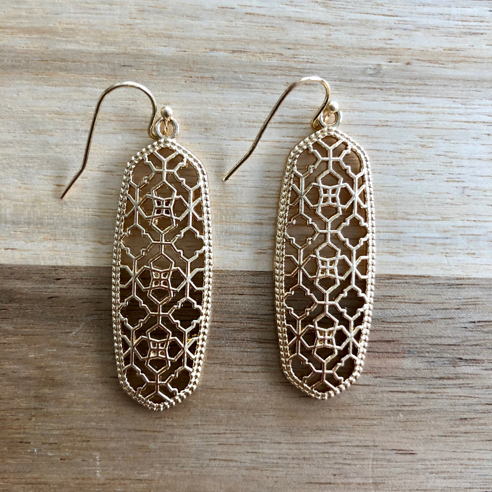 Gold Cutout Earrings
