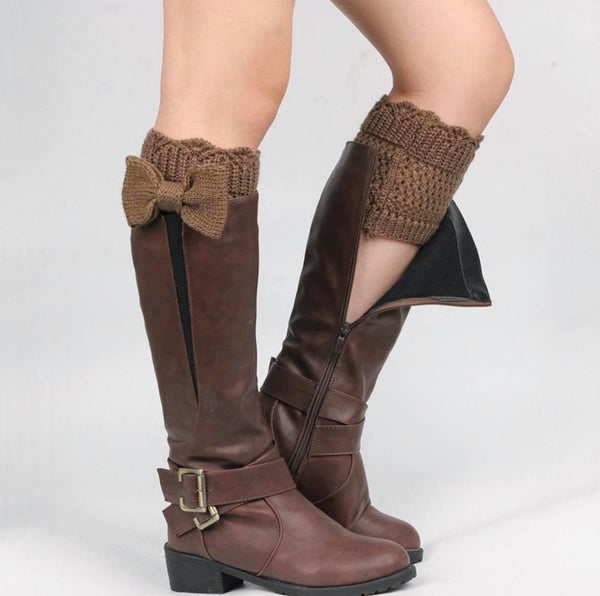 Brown Bow Boot Cuff