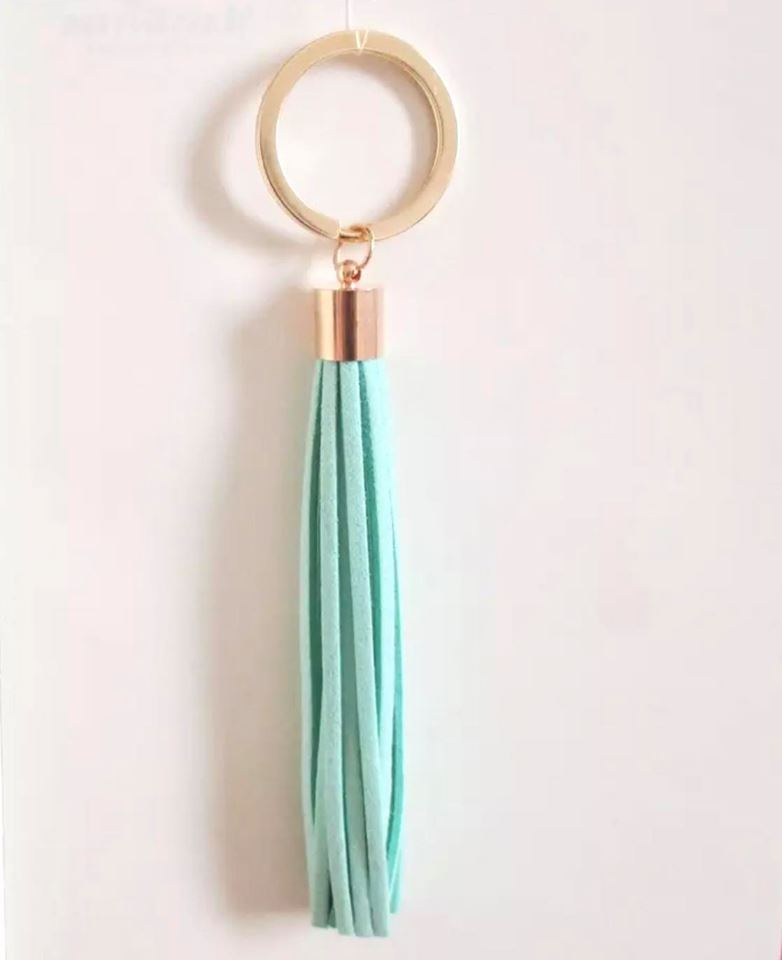 Mint Tassel Key Chain