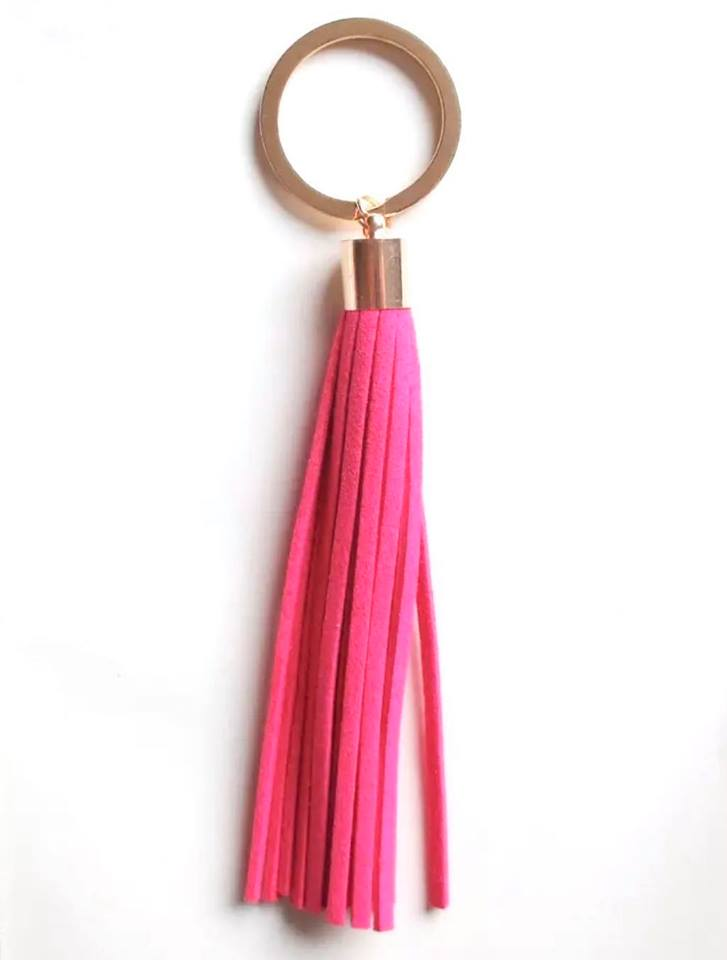 Pink Tassel Key Chain