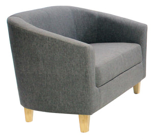 The Claridon Range - Dark Grey Linen Two Seater Sofa