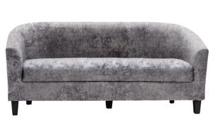 The Claridon Range - Silver Crushed Velvet Three Seater Sofa