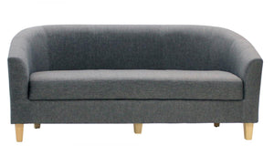 The Claridon Range - Dark Grey Linen Three Seater Sofa