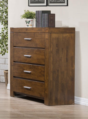 The California Range - Rustic Oak Solid Rubberwood Chest of Drawers