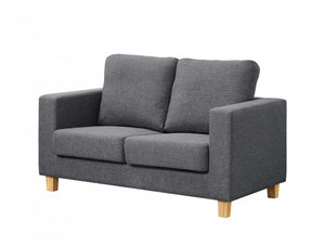 The Chesterfield Range - Greay Crushed Velvet Two Seater Sofa
