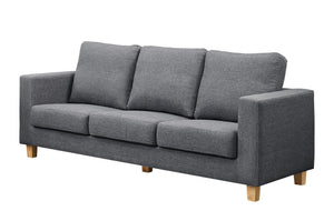 The Chesterfield Range - Grey Fabric Three Seater Sofa