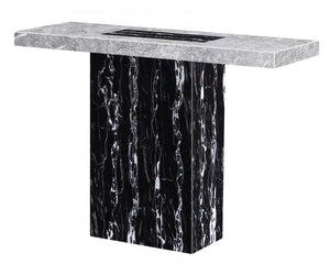 The Lotus Range - Natural Marble Console Table