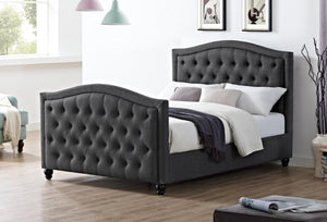 The Daytona Range - Dark Grey Linen King size Bed