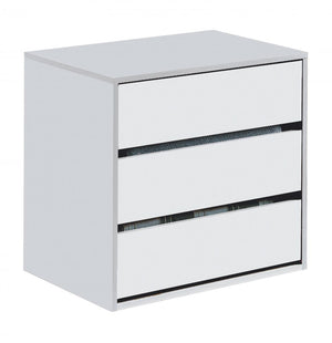 The Arctic Range - White High Gloss Chest of Drawers