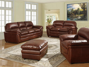The Fernando Range - Dark Brown Bonded Leather Two Seater Sofa