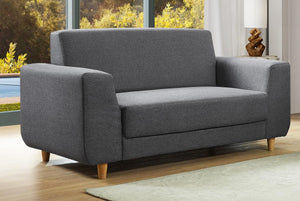 The Fida Range - Dark Grey Fabric Two Seater Sofa