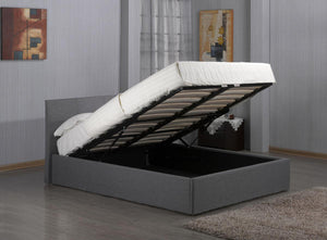 The Fusion Range - Grey Fabric King size Bed