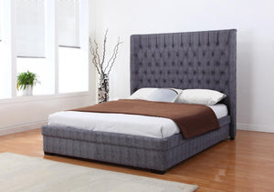 The Genesis Range - Dark Grey Linen Double Bed