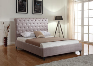 The Hallcroft Range - Mink Fabric King size Bed