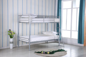 The Himley Range - Silver Metal Bunk Bed
