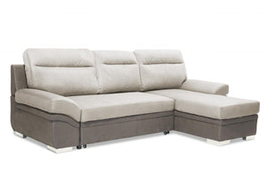 The Jessica Range - Light Grey Fabric Sofa Bed