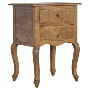 The Artisan Collection - French Style Two Drawer Bedside Table