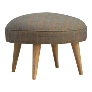 The Artisan Collection - Multi Tweed Nordic Style Round Footstool