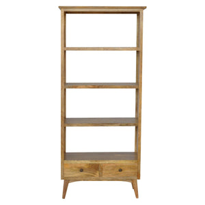 The Artisan Collection - Solid Wood Bookcase with Two Drawers & 4 Shelves