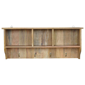 The Artisan Collection - Mounted Coat Rack with Three Shelves
