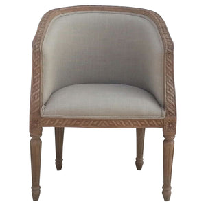 The Artisan Collection - Hand Made Carved Upholstered Tub Chair