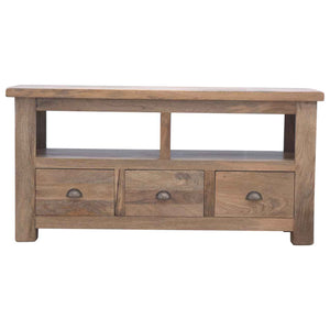 The Artisan Collection - Handmade Open Back Slot Three Drawer Media Unit