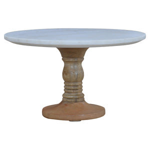 The Artisan Collection - Cake Stand with Marble Top Hand Turned Base