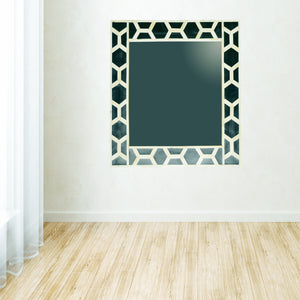 The Artisan Collection - Hand Made Mirror Frame with Mother of Pearl Inlay Patern