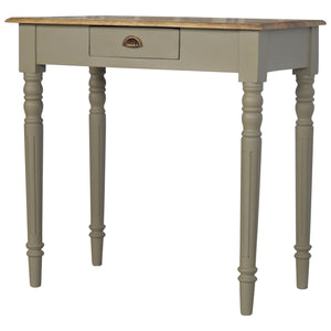 The Artisan Collection - Hand Made Single Drawer Writing Desk with Flute Legs