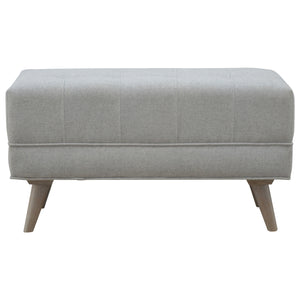 The Artisan Collection - Hand Made Scandinavian Designed Footstool In Grey Tweed