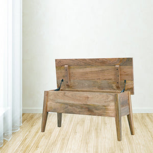The Artisan Collection - Solid Wood Nordic Lid Up Storage Bench
