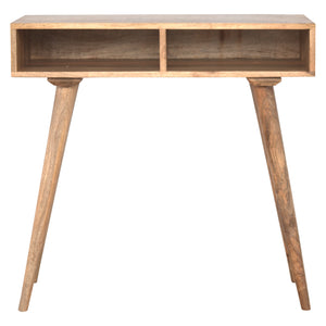 The Artisan Collection - Artisan Solid Wood Nordic Writing Desk With Two Open Slots