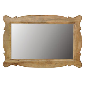 The Artisan Collection - Hand Carved Oblong Mirror Frame