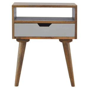 The Artisan Collection - Grey Nordic Style Single Drawer Bedside Table