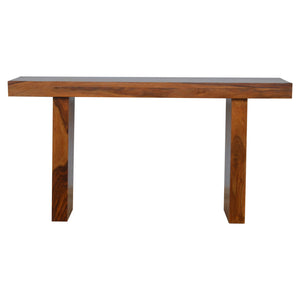 The Artisan Collection - Cube Designed Sheesham Wood Bench