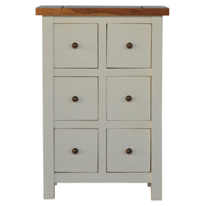 The Artisan Collection - Sleek Two Toned CD Cabinet with 6 Drawers