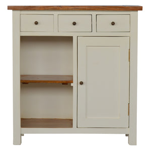 The Artisan Collection - Hand Made Two Toned Kitchen Unit with Three Drawer, Two Open Shelves & Single Cabinet