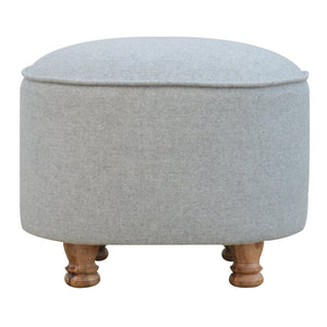 The Artisan Collection - Grey Oval Footstool