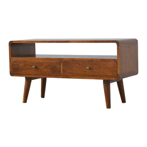 The Artisan Collection - Two Drawer Curved Media Unit
