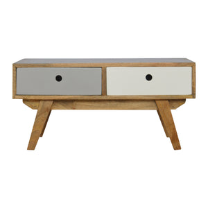 The Artisan Collection - Artisan Two Tone Hand Painted Hole Cut Out Coffee Table