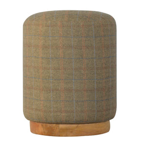 The Artisan Collection - Hand Made Cylindrical Multi Tweed Footstool