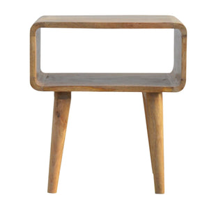 The Artisan Collection - Nordic-Style Bedside Table with Open Compartment