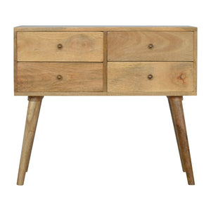 The Artisan Collection - 4 Drawer Nordic Style Console Table