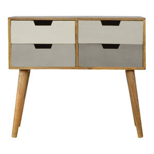 The Artisan Collection - 4 Drawer Nordic Style Grey Hand-Painted Console Table