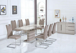 The Knightsbridge Range - Cuppuccino or Champagne High Gloss Dining Table