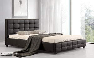 The Lattice Range - PU Leather Double Bed
